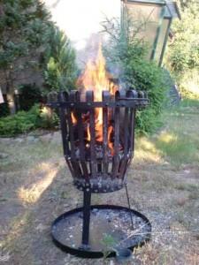 Feuer im Korb