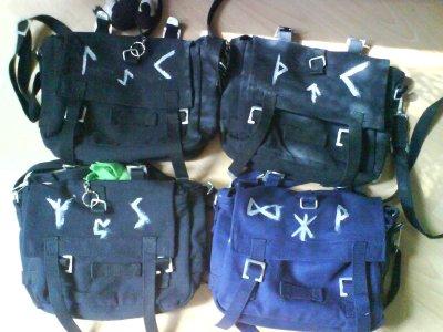 Die vier runenverzierten Taschen